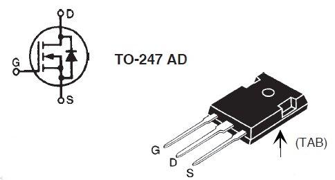 IRFP460, Стандартный